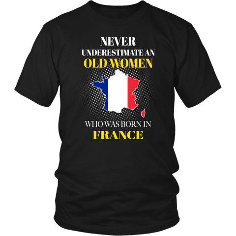 Image of France T-shirt Never Underestimate Women A10