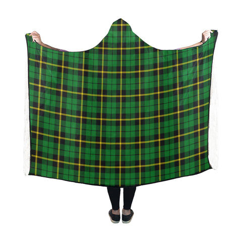 Wallace Hunting - Green Tartan Hooded Blanket - BN