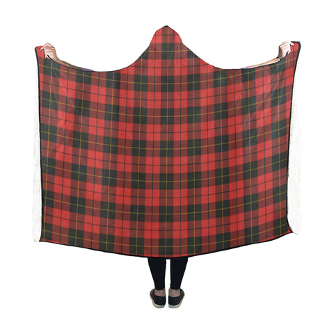 Wallace Weathered Tartan Hooded Blanket - BN