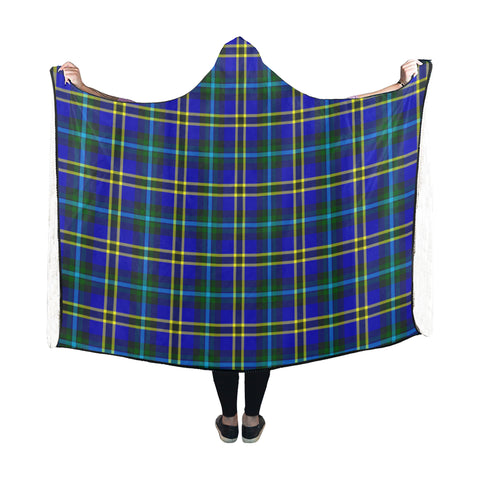 Weir Modern Tartan Hooded Blanket - BN