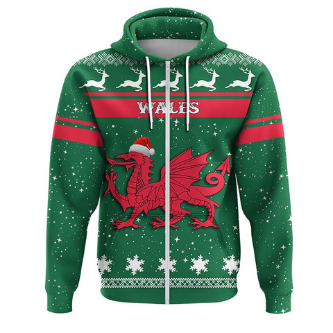 Wales Coat Of Arms Zip Hoodie
