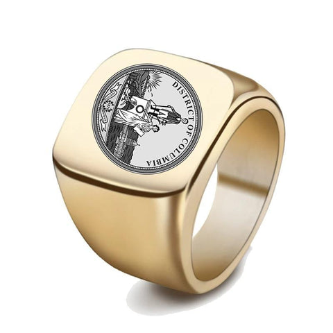 Washington, D.C. Coat Of Arms Signet Ring