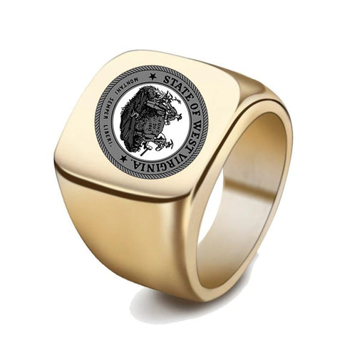 Image of Western Australia Coat Of Arms Signet Ring
