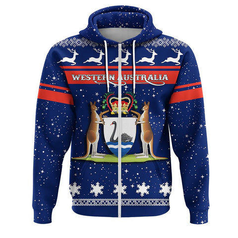 Western Australia Coat Of Arms Zip Hoodie