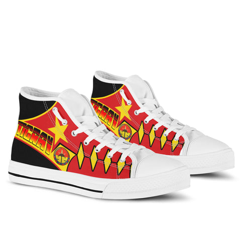 1sttheworld High Top Shoe - Tigray In My Heart - Tigray Original Flag - BN21