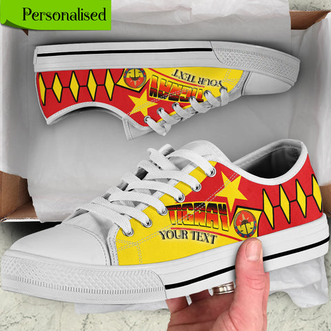 (Custom Text) Tigray Personalised Low Top Shoes - Tigray Pride - BN21