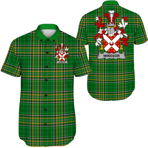 Image of Windsor Ireland Short Sleeve Shirt - Irish National Tartan A7