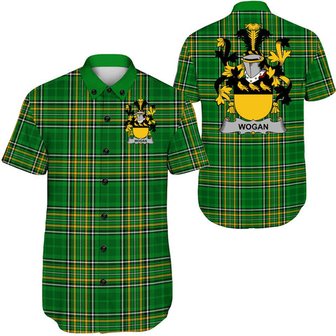 Image of Wogan Ireland Short Sleeve Shirt - Irish National Tartan A7