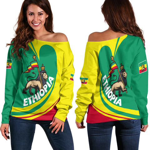 Image of Ethiopia Off Shoulder Sweater Lattar A15