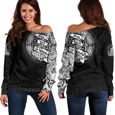 Viking Off Shoulder Sweater - See You In Valhalla A31