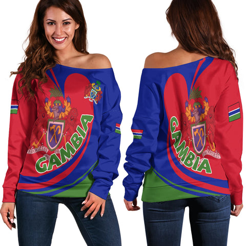 Gambia Off Shoulder Sweater Lattar A15