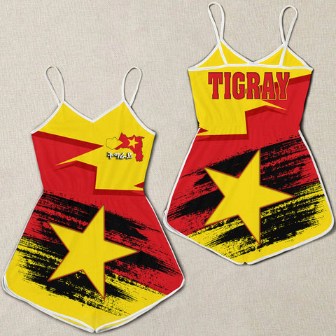 Tigray Flag And Map Special Women Rompers A27