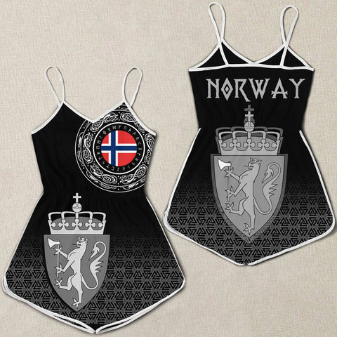 Viking Style Women Rompers - Norway Coat Of Arms A31