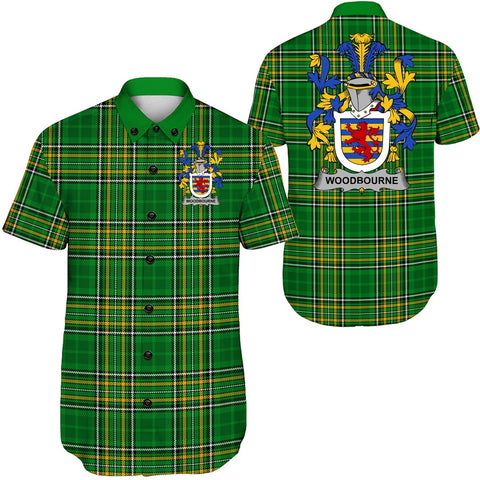 Image of Woodbourne Ireland Short Sleeve Shirt - Irish National Tartan A7