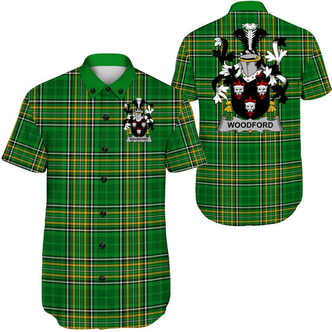 Image of Woodford Ireland Short Sleeve Shirt - Irish National Tartan A7