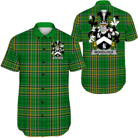 Image of Woodlock Ireland Short Sleeve Shirt - Irish National Tartan A7