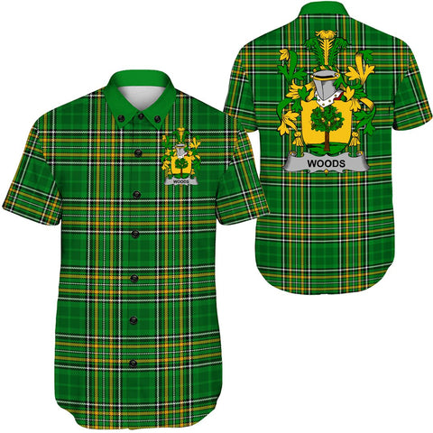 Woods Ireland Short Sleeve Shirt - Irish National Tartan A7