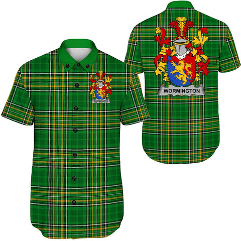 Image of Wormington Ireland Short Sleeve Shirt - Irish National Tartan A7