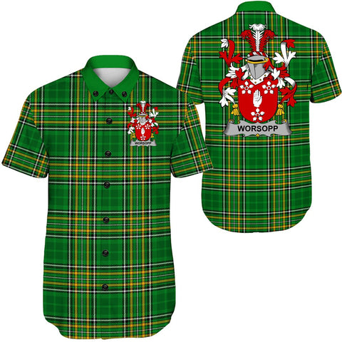 Image of Worsopp Ireland Short Sleeve Shirt - Irish National Tartan A7