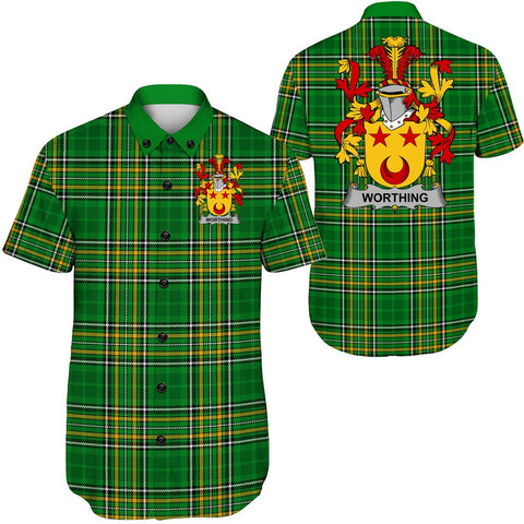 Worth or McWorth Ireland Short Sleeve Shirt - Irish National Tartan A7