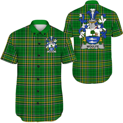 Woulfe Ireland Short Sleeve Shirt - Irish National Tartan A7