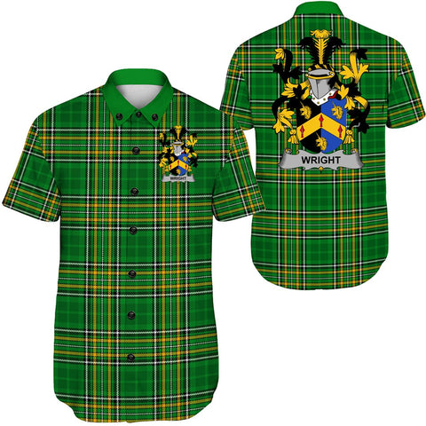 Image of Wright Ireland Short Sleeve Shirt - Irish National Tartan A7
