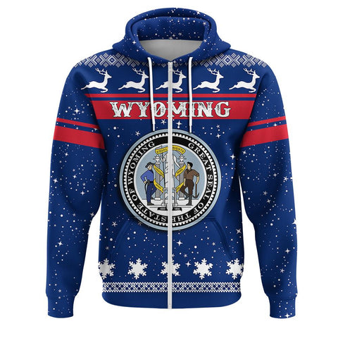 Wyoming Coat Of Arms Zip Hoodie