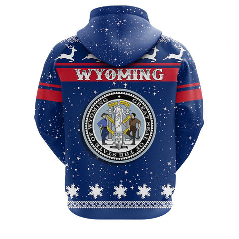Image of Wyoming Christmass Zip Hoodie