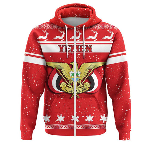 Yemen Coat Of Arms Zip Hoodie
