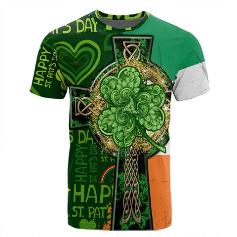 Image of Young T-shirt Celtic Cross Shamrock
