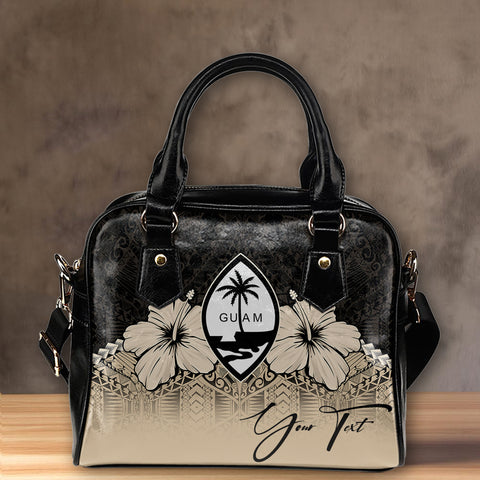 (Custom) Guam Shoulder Handbag Hibiscus Personal Signature | Special Custom Design