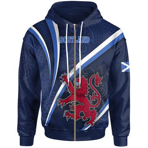 Scotland Celtic Zip-Up Hoodie - Proud to be Scottish
