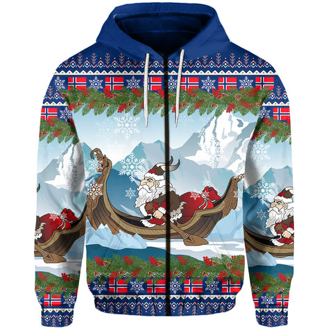 Norway Zip-Hoodie Santa Viking Is Coming