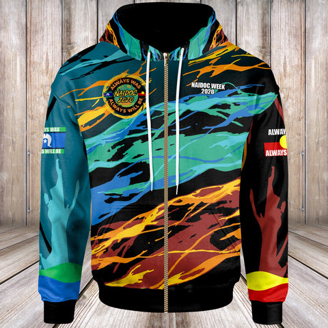(Custom) Australia Zip-Up Hoodies - Naidoc Always Was, Always Will Be - BN17