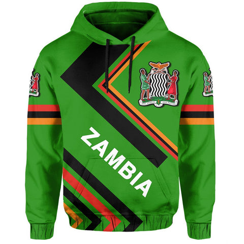 Zambian Flag Hoodie - Africa Nations