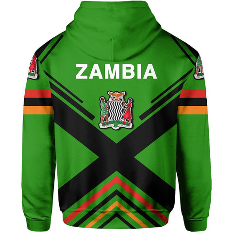 Image of Zambian Flag Hoodie Zip - Africa Nations