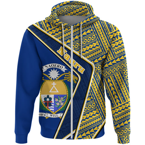 Nauru Zip Hoodie - Polynesian Coat Of Arms | Love The World