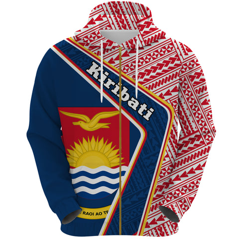 Kiribati Zip Hoodie - Polynesian Coat Of Arms | Love The World