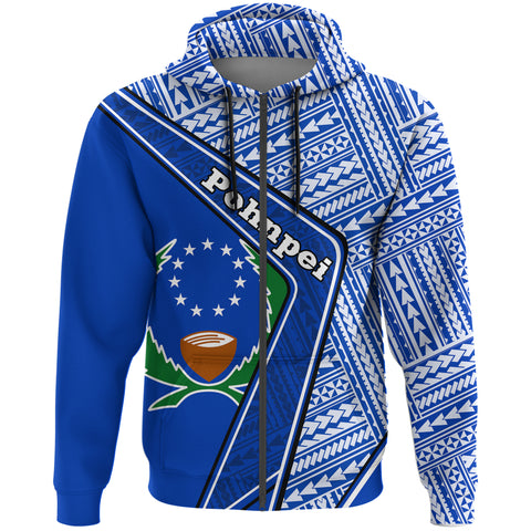 Pohnpei Zip Hoodie - Polynesian Coat Of Arms | Love The World