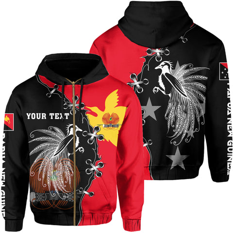 Personalized - Papua New Guinea Hoodie Zip - Cinch Style - J6