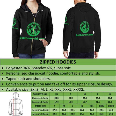 Image of New Zealand Aotearoa Zip Hoodie A0