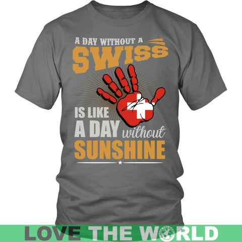 Image of A Day Without Swiss G2 Gildan Womens T-Shirt / Black S T-Shirts