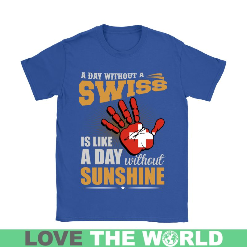 A Day Without Swiss G2 Gildan Womens T-Shirt / Black S T-Shirts