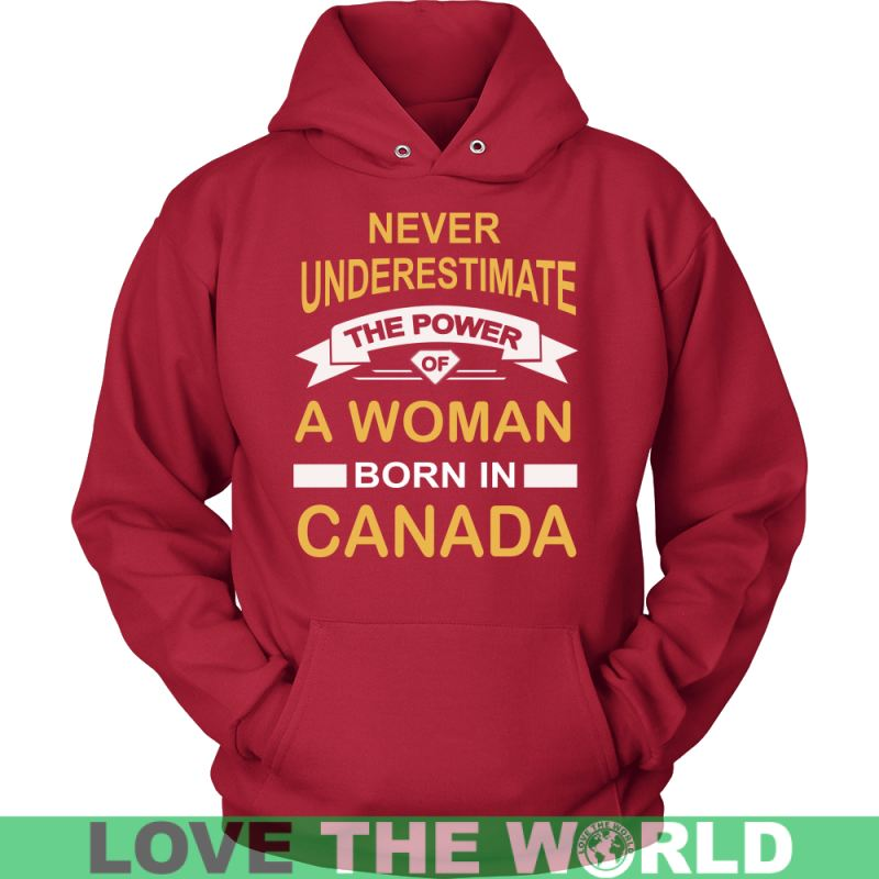 A Woman Born In Canada G8 Gildan Womens T-Shirt / Black S T-Shirts