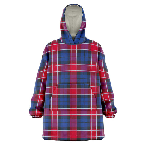 Graham of Menteith Red Snug Hoodie - Unisex Tartan Plaid Front