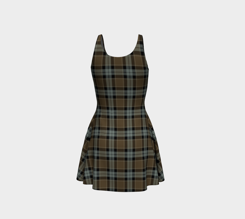 Tartan Flare Dress - Graham Of Menteith Weathered A9 |Clothing| 1sttheworld