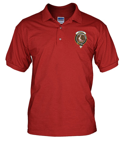Tartan Polo Shirt - Ainslie Badge (Men's)  | Over 300 Clans Tartan | Special Custom Design | Love Scotland