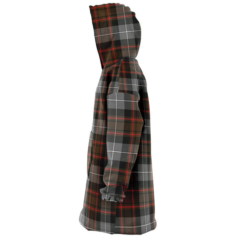 MacRae Hunting Weathered Snug Hoodie - Unisex Tartan Plaid Left