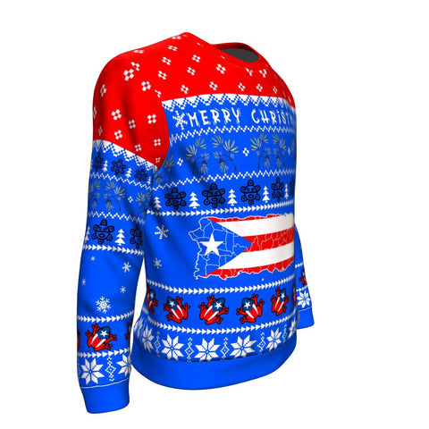 Image of Puerto Rico Christmas Sweatshirt - Map TH5