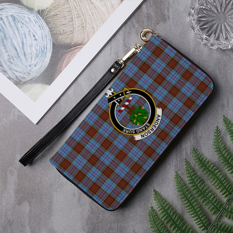 Image of ANDERSON TARTAN CLAN BADGE ZIPPER WALLET HJ4